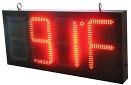 Time and Temperature LED Display
