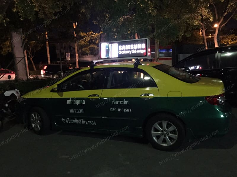 Taxi Top Led Display In Thailand Yuchip