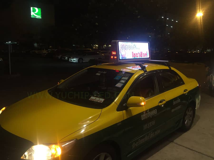YUCHIP GPS Taxi Top LED Display Application Solution