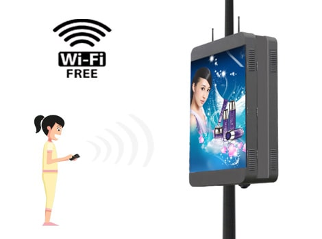 LANWifi3G street light pole led display