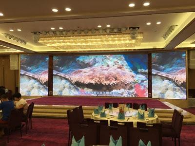 P5 Hd Indoor Fixed Led Display Screen Yuchip In Restaurant