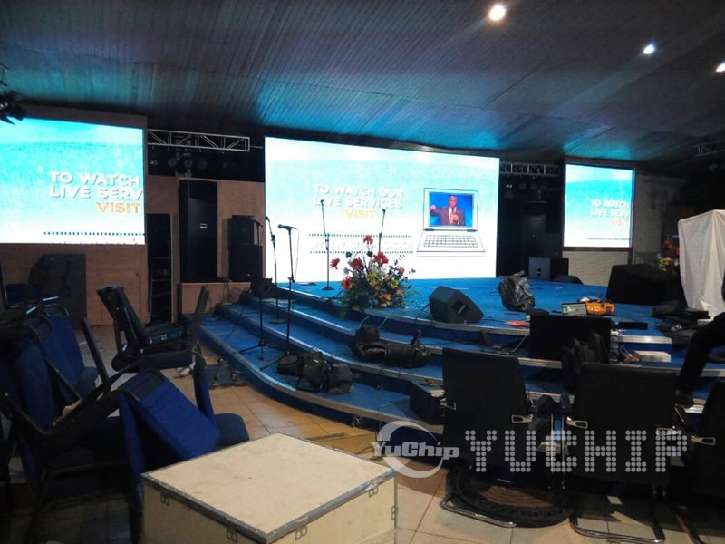 Church LED Screen In Nigeria From YUCHIP - YUCHIP