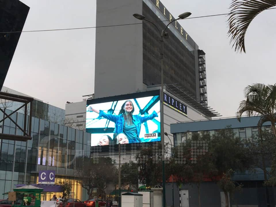 The Biggest Oudoor Advertising Led Screen In South America