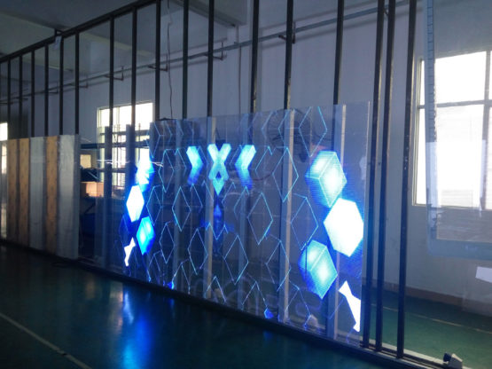 Glass LED screen Transparent