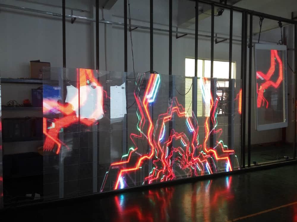 Transparente LED-Bildschirme
