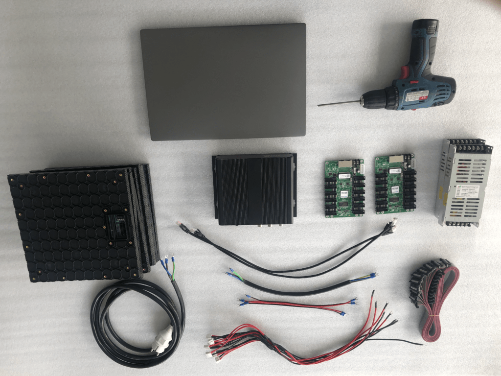 How to Connect LED Video Wall Module (LED Panel Connection) - YUCHIP