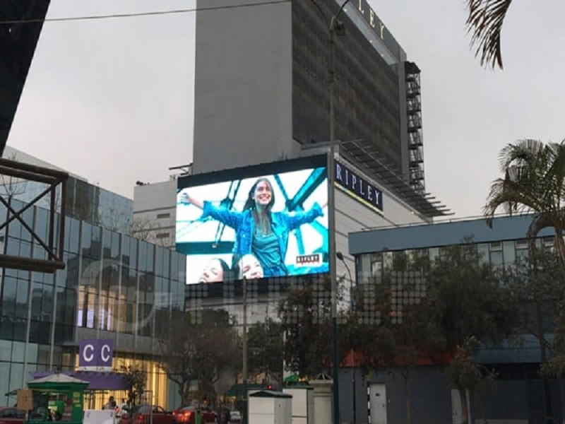 8. The Biggest Oudoor Advertising LED Screen In south America