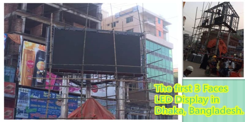 Bangladesh 3-Faced LED Display