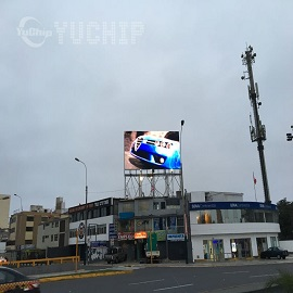 YUCHIP P20 Outdoor Advertising Screens In Peru 3
