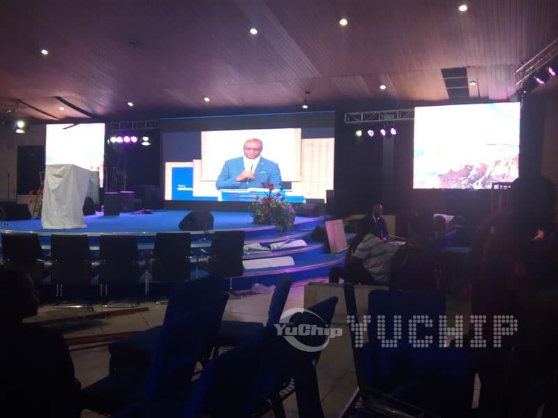 Church LED Screen In Nigeria From YUCHIP