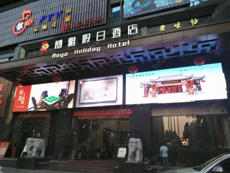 P6 Outdoor Commercial Advertising LED Wall