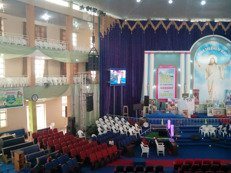Yuchip's P4 SMD2121 Indoor Church LED Display In Nigeria