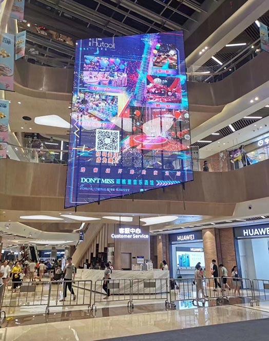 Transparent LED Display for Malls