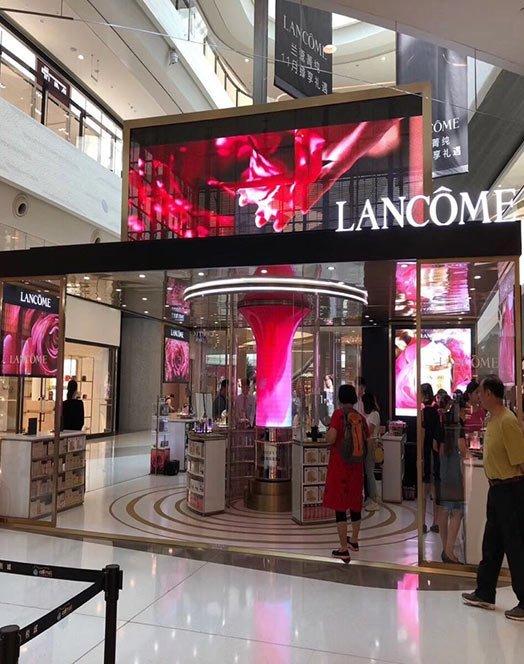Transparent LED Screen for Cosmetics Shops
