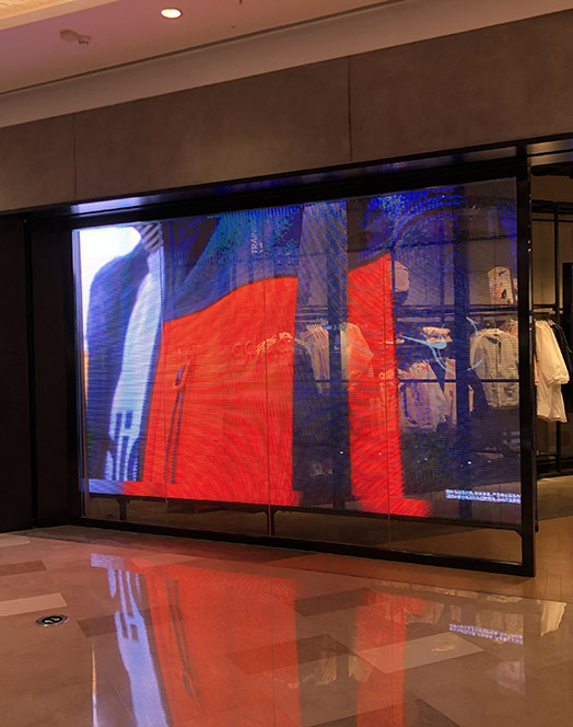 Transparent LED Screen for Retail Stores