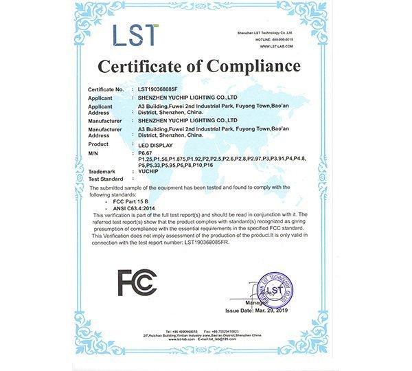 LED Display FCC