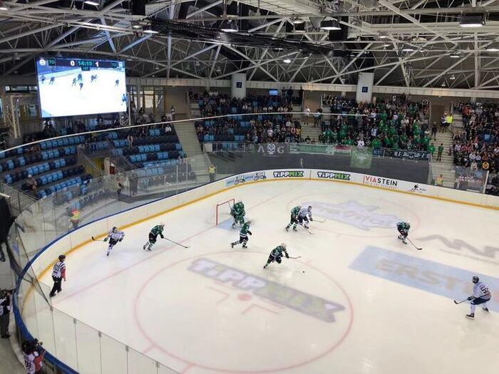 YUCHIP P8 LED Screen In Hungary's Ice Hockey Stadium